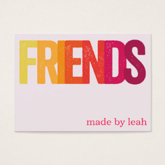 """Friends"" Friendship Bracelet Card"