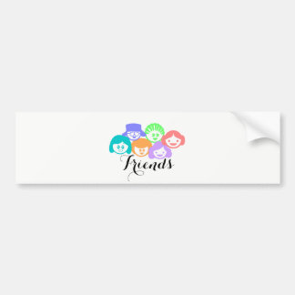 """Friends"" Friendship Cute Bumper Sticker. Bumper Sticker"