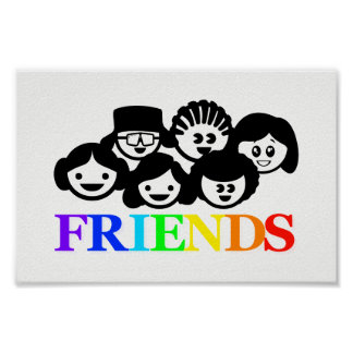 """Friends"" Friendship, Poster"