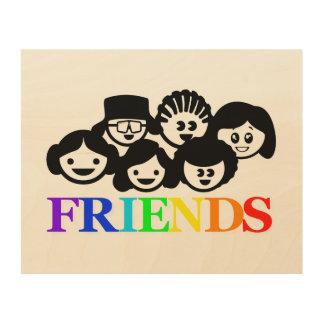 """Friends"" Friendship wood wall art"