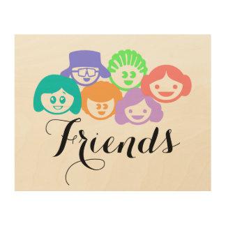 """Friends"" Friendship, Wood Wall Art. Wood Wall Art"