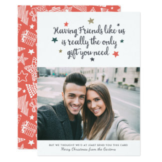 Friends Holiday Photo Card