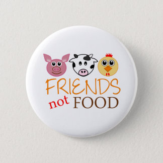 Friends Not Food 2 Inch Round Button