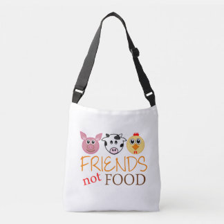 Friends Not Food Crossbody Bag