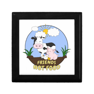 Friends Not Food - Cute Cow, Pig and Chicken Gift Box