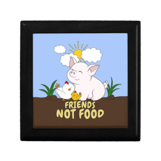 Friends Not Food - Cute Pig and Chicken Gift Box