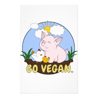 Friends Not Food - Cute Pig and Chicken Stationery