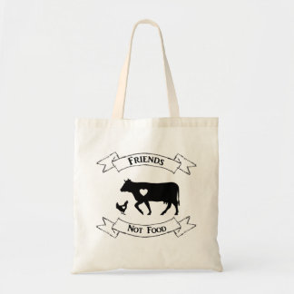 """Friends Not Food"" Vegan Tote"