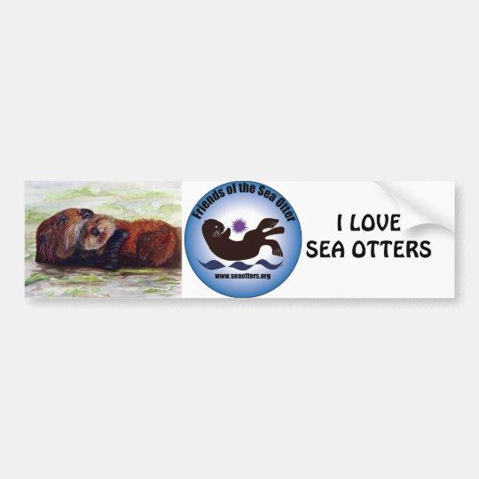 Friends of the Sea Otter Bumper Sticker
