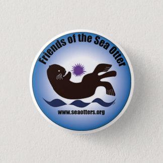 """""""Friends of the Sea Otter"""" button w/ logo, small"""