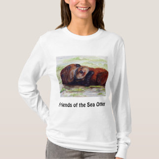 Friends of the Sea Otter Long Sleeve Shirt Womens