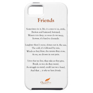 Friends Poem iPhone 5 Cases
