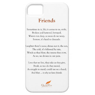 Friends Poem iPhone 5 Cover