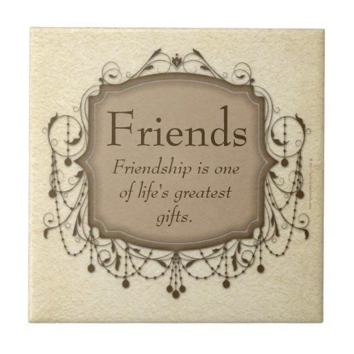 Friends Sentimental Message Chandelier Tile Plaque