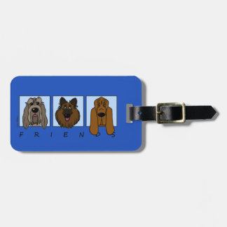 Friends: Spinone Italiano, Tervueren, Bloodhound Luggage Tag