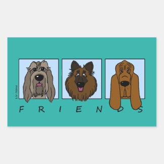 Friends: Spinone Italiano, Tervueren, Bloodhound Sticker