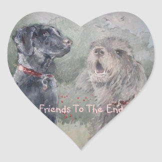 """""""Friends To The End"""" Heart Sticker"""