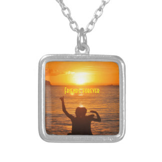 Friends together silver plated necklace