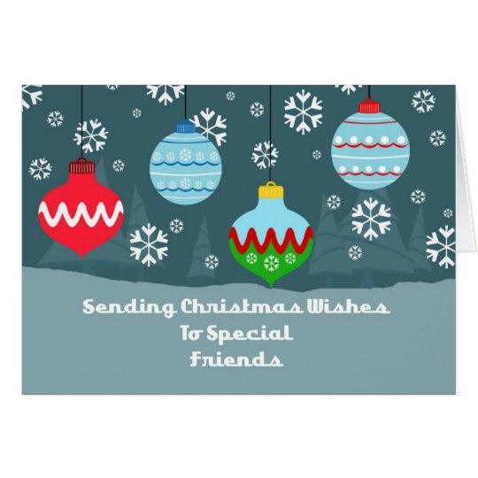 Friends Vintage Ornaments Christmas Card