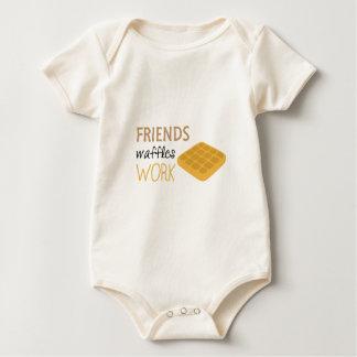 Friends Waffles Work Baby Bodysuit