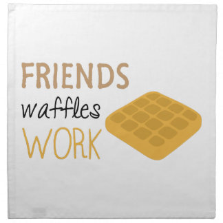 Friends Waffles Work Cloth Napkins