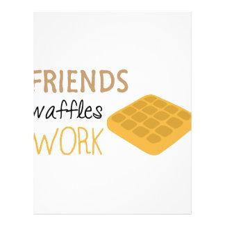 Friends Waffles Work Letterhead