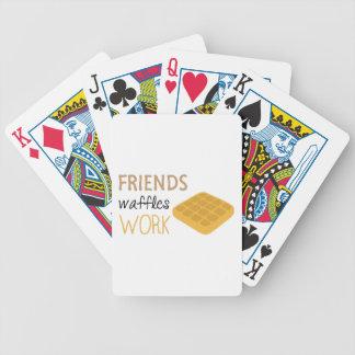 Friends Waffles Work Poker Deck
