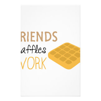 Friends Waffles Work Stationery
