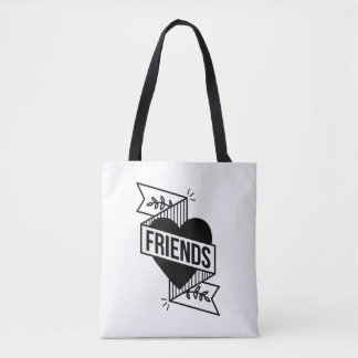 FRIENDS WHITE TOTE BAG