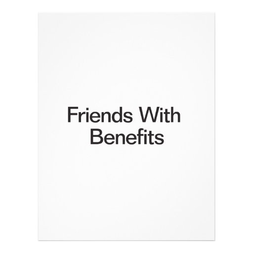 Friends With Benefits Personalized Flyer