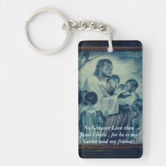Friends with Jesus Double-Sided Rectangular Acrylic Keychain