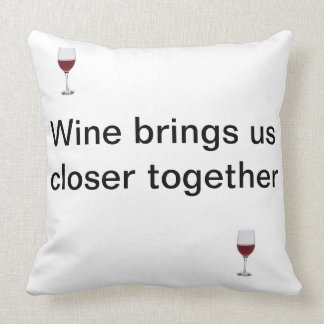 Friendship and a glass of wine throw pillow