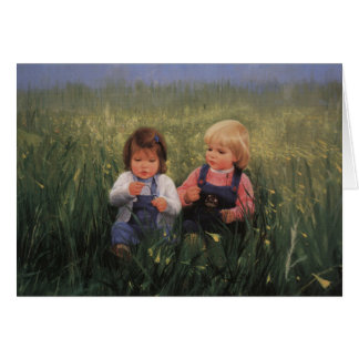 Friendship and Flowers Greeting Card