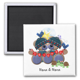 Friendship Bears (personalized) Magnet