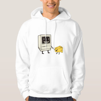 Friendship between computer and cheese hoodie