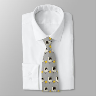 Friendship between computer and cheese tie