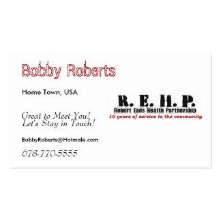 Friendship Cards Robert Eads Logo Business Card