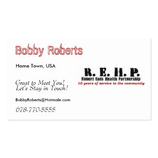 Friendship Cards Robert Eads Logo Pack Of Standard Business Cards