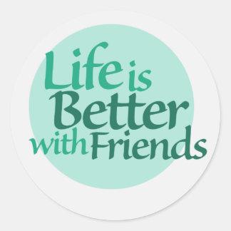 Friendship Classic Round Sticker