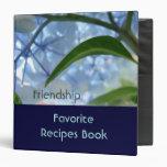 Friendship Favourite Recipes Book binder Blue