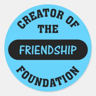 Friendship Foundation Creator Round Sticker