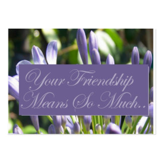 Friendship Gift Tags Large Business Card