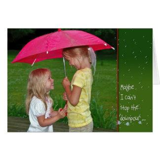Friendship in the rain card