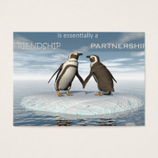 Friendship is essentailly a partnership business card