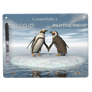 Friendship is essentailly a partnership dry erase white board