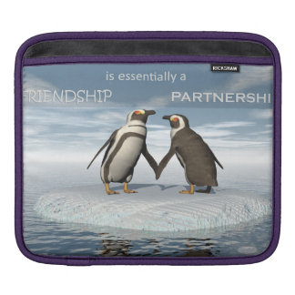 Friendship is essentailly a partnership iPad sleeve
