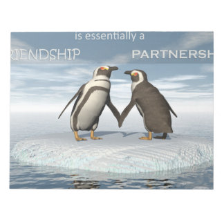 Friendship is essentailly a partnership notepad