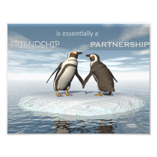 Friendship is essentailly a partnership photograph