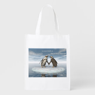 Friendship is essentailly a partnership reusable grocery bag