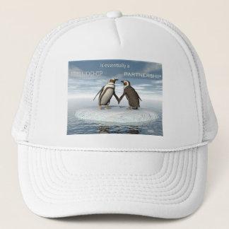 Friendship is essentailly a partnership trucker hat